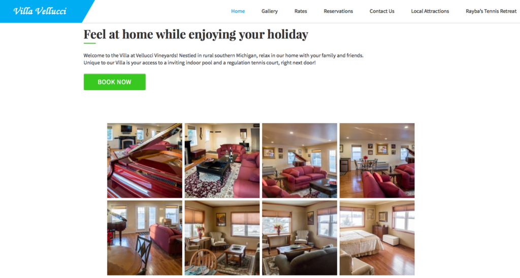 Website – Vacation Home