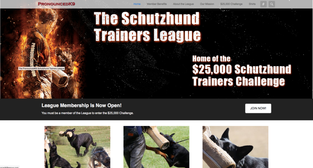 Website – Schutzhund League